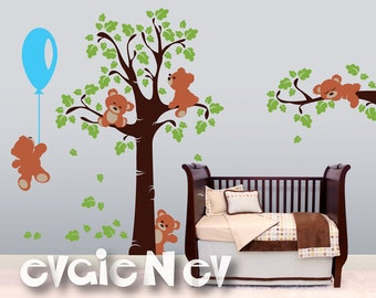 Adorable Teddy Bears - Wall Decals and Baby Nursery Wall Stickers -  PLTBRS030 - Winnie-the-Pooh