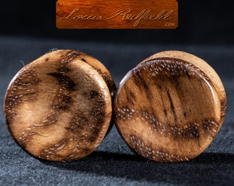 "Made to order Concave White Oak Burl Plugs 8g to 2 3/4"" (69.8 mm)"