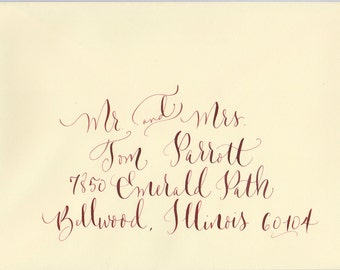 wedding envelope addressing hand calligraphy
