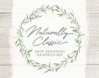 Rustic Branch Shop Branding Banners, Avatar Icons, Business Card, Logo Label + More - 13 Premade Graphics Files - NATURALLY CLASSIC