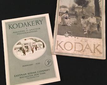 Rare Vintage Kodak Ephemera, Kodakery Magazine, February 1930, and 1923 Eastman Kodak Catalogue