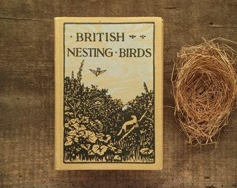 Vintage bird book British Nesting Birds.