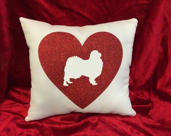 Japanese Chin throw pillow.  Great gift for the Japanese Chin dog lover!