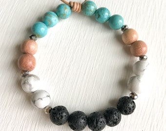 Turquoise Healing Beaded Diffuser Bracelet
