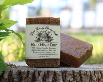 Beehive Bar Soap, Oatmeal Soap, Handmade Soap, Natural Soap, propolis, buttermilk, lemongrass soap, tea tree soap, milk soap, tea tree oil