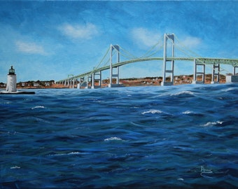 Newport RI Bridge - Giclee on canvas