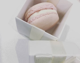 25 individually boxed Authentic French Macarons - Wedding Favours, Baby Shower made fresh to order - Delivery Nationwide