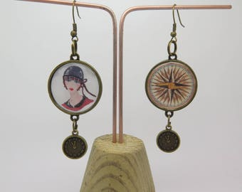 Retro and vintage style with CABOCHON themed steampunk EARRINGS
