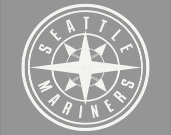 Seattle Mariners White Vinyl Decal