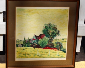 Andre' Pierret Limited Edition Lithograph Signed