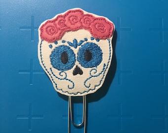 Floral Sugar Skull Planner Clip