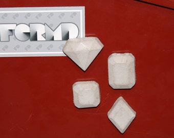 Concrete Gem Magnets - Set of 4
