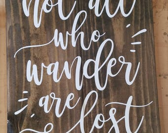 Not at who wander are lost