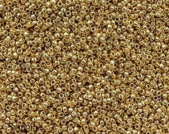 15/0 PermaFinish Galvanized Starlight Toho Seed Beads - 8 grams - Color # 15-pf557 - Galvanized Starlight 15/0 Toho Seed Beads - 1946
