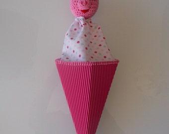 Cone pig puppet