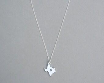 I Heart Texas necklace