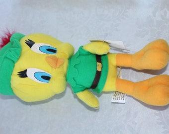 "Vintage 11"" Tweety Bird Plush Dressed As Robin Hood With Original Tags"