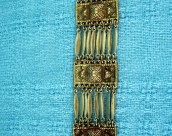 Mid Century  Moorish Design  Bracelet  Mixed Metals