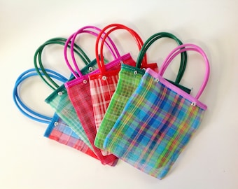 Set of 10 Small Mexican Mercado Market Shopping Bag Small Mercado Bag Market Bag Small Tote Mexican Perfect for Candies