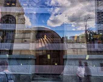 Multiple Exposure of Brisbane III Print
