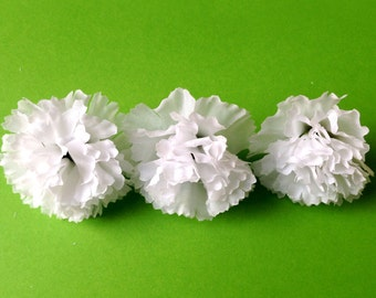 25  White Baby Carnations - Artificial flowers