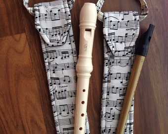 Recorder Bag, Tin Whistle Cover, Case, Irish Penny Whistle, Custom, Sleeve, Pouch, Fife, Woodwind, Classical Conversations, CC, Music Gift