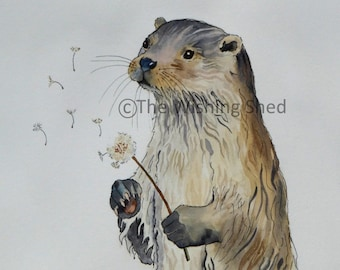 The Wishing Otter - Print