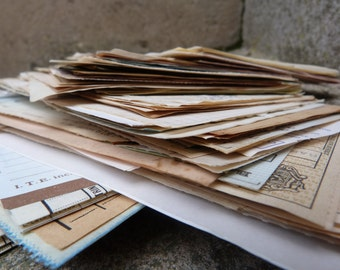 Bundle 50 antique paper ephemera from Europe