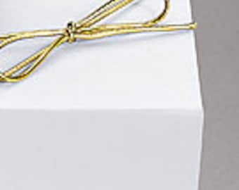 """Wedding Hankerchief Gift Box, Box, Wrapping, Box for Gift, 5 x 5 x 2"""" White Gloss Gift Boxes for your Hankercheifs"""