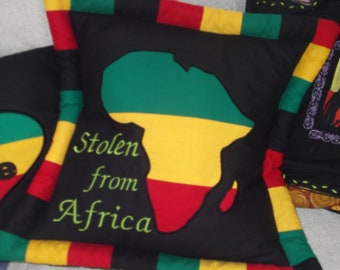 Stolen from Africa Rasta cushion cover