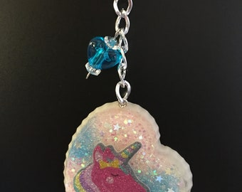 Unicorn Resin Keychain