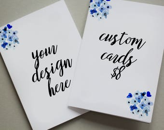 Custom Greeting Cards - Custom Invitations