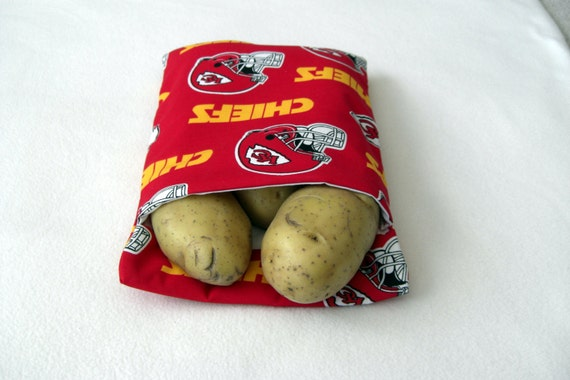 Kansas City Chiefs Microwave Baked Potato Bag