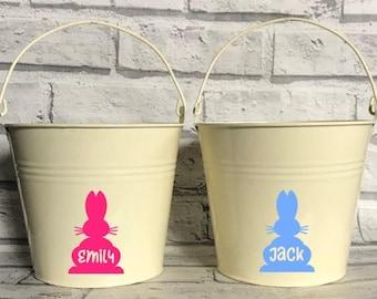 Personalised Easter Bucket - Easter Pail - Egg hunting bucket basket