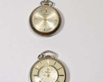 Vintage Lucerno Pendant Watch, gold colored, Waltham, necklace watch