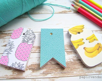 Gift Tags, Pineapple Tags, Flamingo Tags,Wedding Tags, Baby Shower Tags, Lulu Tags,Hawaii Theme Tags, Beach Favor Tags,Party Gift Tags,Tags