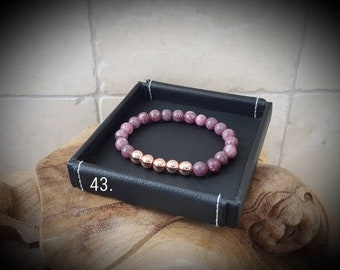 Purple rose gemstone bracelet
