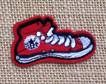 """Punk Shoe Iron On Patch for Jackets and Backpacks. Punk Converse Patches 2.5"""" Rock Grunge Punk Band Tumblr Iron On Patches"""