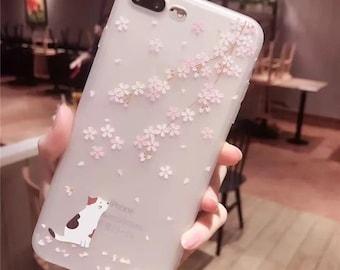 Cherry blossom iphone X/6/6plus/7/7plus/8/8plus (Free Shipping)