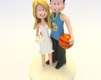 Custom wedding cake topper - Basketball
