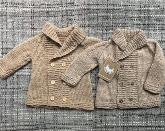 0-6 months Alpaca Coat, Knitted Coat, Baby Coat, sweater, baby sweater