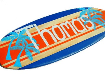 Surf board Wall Art, Decorative Surfboard Decor, Personalized Beach SIgns