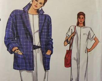 Vintage 80's Uncut Boxy Jacket and Dress Pattern Sz 8-12, 8914