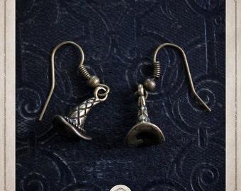 Wizard Hat earrings bronze Fantasia witch BOB051