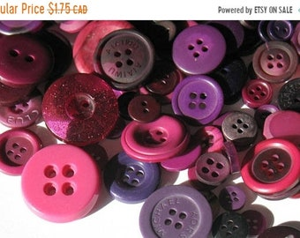 50% OFF - Plum Purple - Button Selection