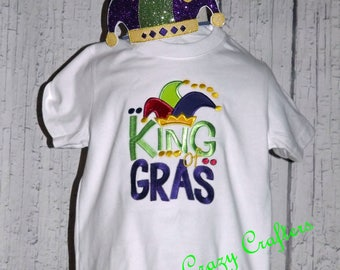 King of Mardi Gras T-Shirt, Boys Shirt, Fat Tuesday, New Orleans, February Celebration