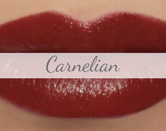 "Vegan Lipstick Sample - ""Carnelian"" (natural red lipstick)"