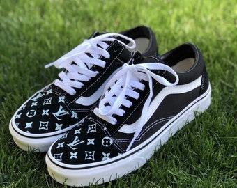 Custom Black LV Old Skool Vans