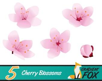 printable blossoms, floral clipart, clipart blossoms, clip art blossoms, sakura clip art, flowers clipart, flower clipart, digital sakura