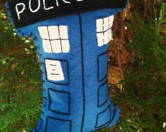 Doctor Who Tardis Christmas Ornament/Decoration